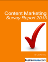 Content Marketing Survey Report 2013