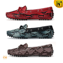 Animal Print Leather Loafers for Women CW314113