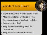 Using Peer Review to Help Students Improve Writing