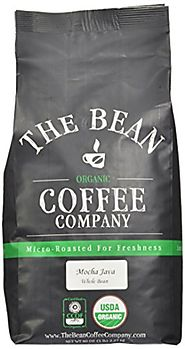 The Bean Coffee Company, Mocha Java Organic Whole Bean Coffee, 5-Pound Bag