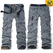 CWMALLS Grey Cargo Hiking Pants CW100012
