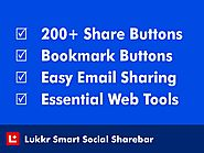 Add All Social Share Buttons with essential tools to your Websites. Lukkr Social Sharebar 1.0
