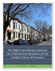 The rights and responsibilities as a permanent resident of the united states of america
