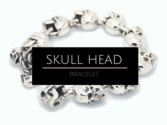 Skull Head Bracelet Stainless Steel Collection -