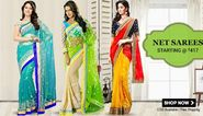 Stun the world with your beauty by wearing a stunning designer saree!