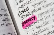 Compile A Glossary Of Terms