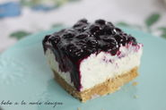 No-Bake Cheesecake Bars with Fresh Blueberry Sauce