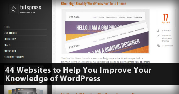 Headline for 44 Websites to Help You Improve Your Knowledge of WordPress