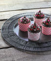 Ruby Red Wine Chocolate Cupcakes