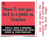 Name & save your deck to a folder on Dropbox