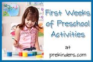 Beginning of School Activities - PreKinders