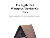 Finding the Best Waterproof Outdoor Cat House
