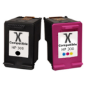 HP 300 Multipack Of Black & Tri Colour Ink Cartridges (300MP) Remanufactured