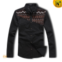 Fitted Long Sleeve Shirt Black CW130038 - cwmalls.com