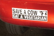 Save a Cow. Eat a Vegtarian