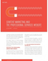 Content Marketing and the Professional Services Website