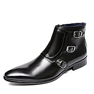Dubai Mens Strap Leather Ankle Boots