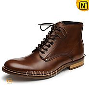 CWMALLS® Mens Italian Leather Ankle Boots CW726509