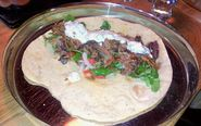 Slow Roasted Lamb in Flatbread