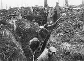 The war in France - digging trenches - letters home