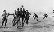 Christmas Day 1914 - football match - playing in it