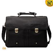 Mens Black Retro Messenger Bag CW914130
