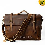 CWMALLS® Men Retro Leather Satchel Bag CW915749