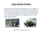 London Airport Transfer - AirportTransferLuton