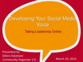 Resource: Developing Your Social Media Voice and Online Leadership