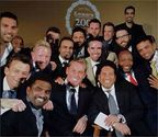 A selfie of cricketing greats at the MCCs bicentennial celebration.