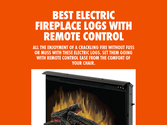 Best Electric Fireplace Logs With Remote Control