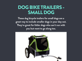 Dog Bike Trailers - Small Dog
