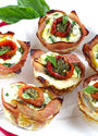 Mediterannean Breakfast Egg Muffins with Ham
