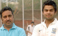 Virat Kohli with his coach Rajkumar Sharma, credited for his success in international cricket.