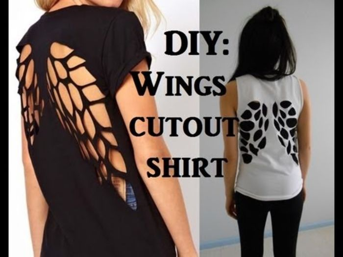 Slicing Shirts 10 Awesome Diy T Shirt Cut Outs A Listly List