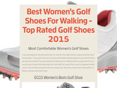 Best Women's Golf Shoes For Walking - Top Rated Golf Shoes 2015