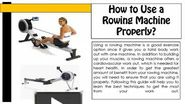 How to Use a Rowing Machine Properly?