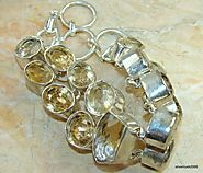 Sunshine Love Citrine Sterling Silver Bracelet