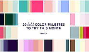 20 Pink & Blue Color Palettes to Try This Month: March 2016
