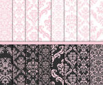Pink Damask digital paper Wedding paper Wedding digital paper Pink white grey Damask craft paper Commercial Card maki...