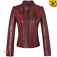 CWMALLS® Italian Fitted Leather Jackets CW607010