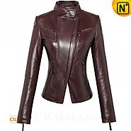 CWMALLS® Designer Leather Motorcycle Jacket CW607025