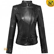 CWMALLS® Designer Leather Moto Jacket CW607018