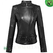 CWMALLS® Women's Italian Leather Jacket CW607018