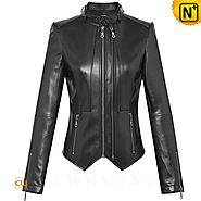 CWMALLS® Women Designer Leather Jacket CW607015