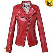 CWMALLS® Designer Fitted Leather Jacket CW607020
