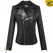 CWMALLS® Designer Fitted Leather Jacket CW650016
