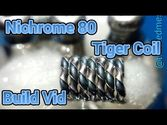 Nichrome 80 Tiger Coil Build on Igo-w