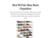 Best 50 Pair Shoe Rack Organizer