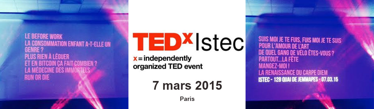 Headline for TEDxIstec - 7 mars 2015